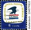 USA - CIRCA 1971: A  stamp printed in United States of America shows USPS logo, circa 1971 - stock photo