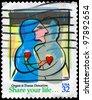 USA - CIRCA 1998: A stamp printed in USA devoted to Organ & Tissue Donation, circa 1998 - stock photo