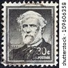 "USA - CIRCA 1954: A stamp printed in USA from the ""Liberty"" issue shows General of the Confederate Army Robert Edward Lee, circa 1954. - stock photo"
