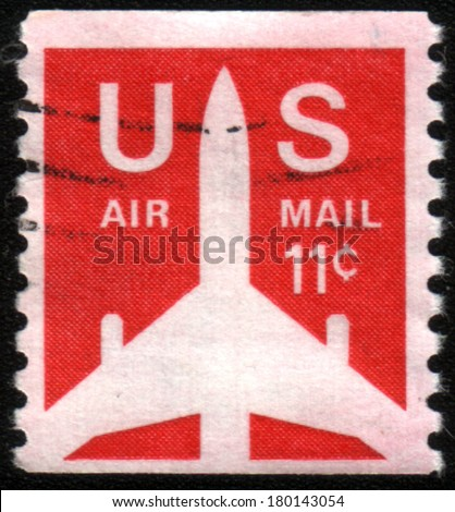 USA - CIRCA 1971: A stamp printed in USA shows a Jet Silhouette, circa 1971