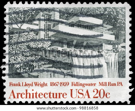 Frank lloyd wright stock photos images pictures for New york state architect stamp