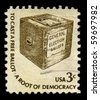 USA - CIRCA 1930: A stamp printed in USA shows image of the dedicated to the General Election Ballots circa 1930. - stock photo