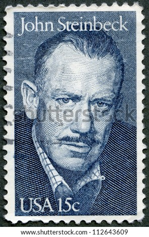 USA - CIRCA 1979: A stamp printed in USA shows portrait of John Ernst Steinbeck, Jr. (1902-1968), novelist, circa 1979