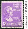 USA - CIRCA 1938: A stamp printed in USA shows portrait of Zachary Taylor (1784-1850), circa 1938 - stock photo