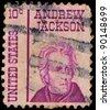 USA - CIRCA 1930: A stamp printed in USA shows Portrait President Andrew Jackson, circa 1930. - stock photo
