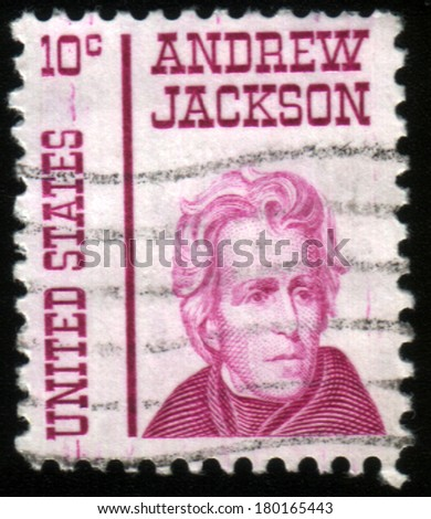 USA - CIRCA 1930: A stamp printed in USA shows Portrait President Andrew Jackson, circa 1930.