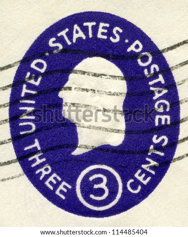 USA - CIRCA 1950: A stamp printed in USA shows President George Washington, circa 1950 - stock photo