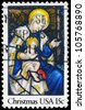 USA - CIRCA 1980: A Stamp printed in USA shows the Madonna and Child, Christmas issue, circa 1980 - stock photo