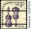 USA - CIRCA 1980: A stamp printed in USA shows the Weaver Violins, Americana Type, circa 1980 - stock photo