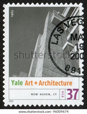 USA - CIRCA 2005: Postage stamp printed in USA shows the image of John Hancock Center ( Chicago, IL). Modern American Architecture, circa 2005 - stock photo