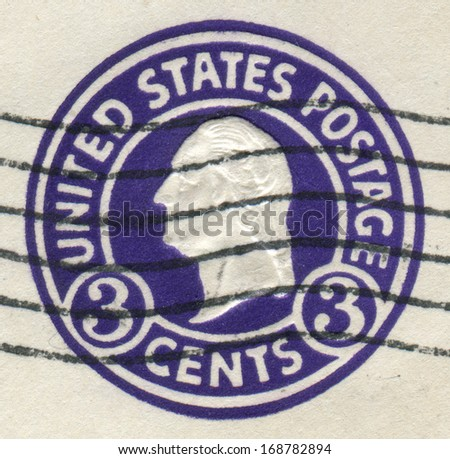 USA - CIRCA 1920: Postage stamps printed in USA, shows a portrait of 1st President of the United States, founder of the United States, George Washington, circa 1920 - stock photo