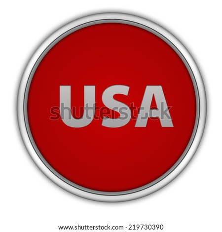 Usa circular icon on white background