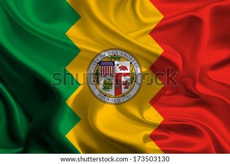 USA City Flags: Los Angeles - stock photo