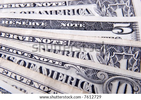 USA currency - various banknotes, dollars