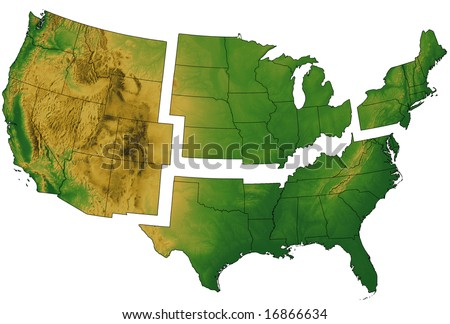 Midwest Map Stock Images RoyaltyFree Images Vectors Shutterstock - Us map divided into regions