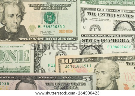 USA dollar money banknotes texture background or backdrop
