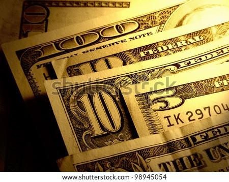 USA dollars. Toned image. - stock photo