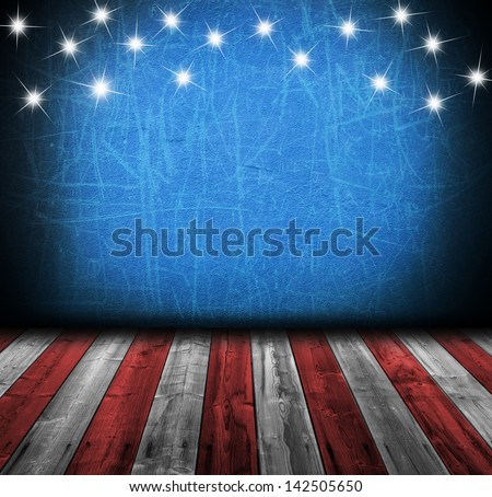 USA empty interior room with copyspace for your text or images - stock photo