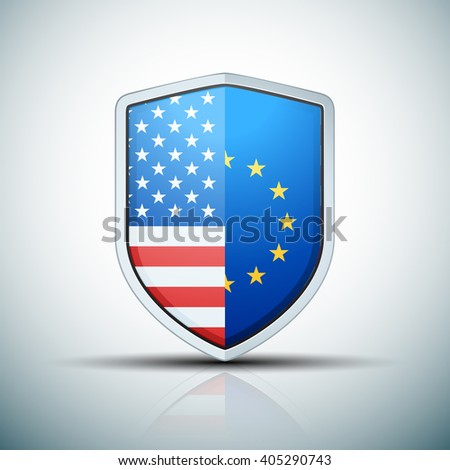 USA & EU shield sign