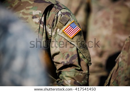 USA flag and US Army
