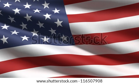 USA flag background - stock photo