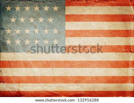 USA flag background. - stock photo