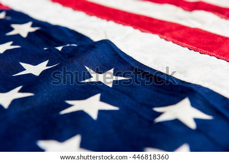 USA flag background, close up detail image