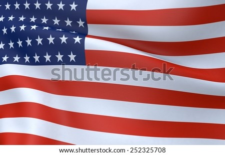 USA flag 3D - stock photo