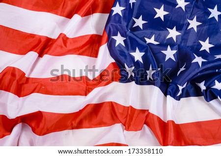 USA flag detail - stock photo