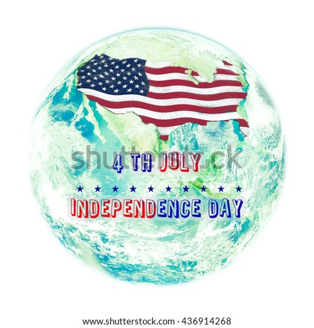 Usa Map Flag Paint Effect On Stock Photo Shutterstock - Us map day nasa