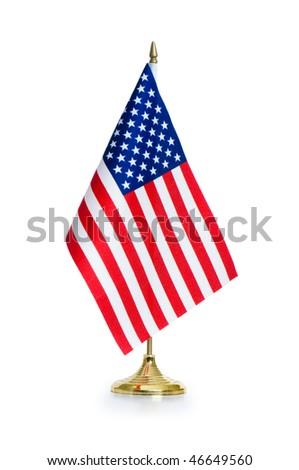 USA flag isolated on the white background - stock photo