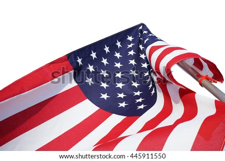 USA flag isolated on white background. This has clipping path.
