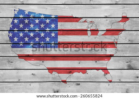 American Flag Badge Graphic Design Vector Stock Vector - Old us map background