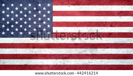 usa flag on concrete texture ,united state flag on  abstract background - stock photo