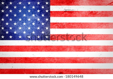USA flag on grunge paper - stock photo