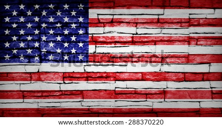 USA flag stonewall background.