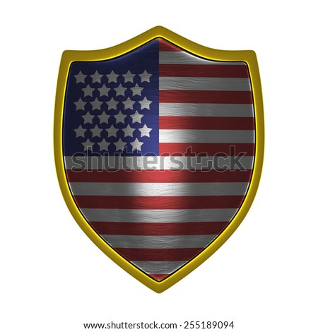 Usa gold shield front lit