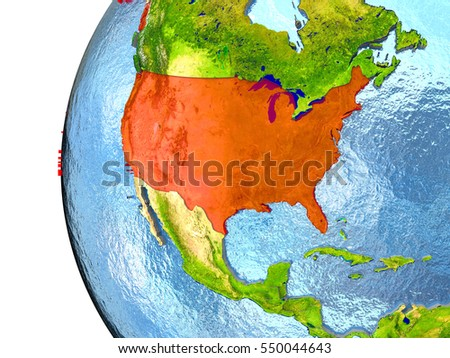 Globe Usa Stock Images RoyaltyFree Images Vectors Shutterstock - Globe of usa