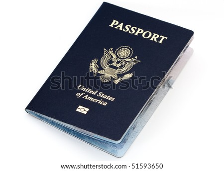 usa passport - stock photo