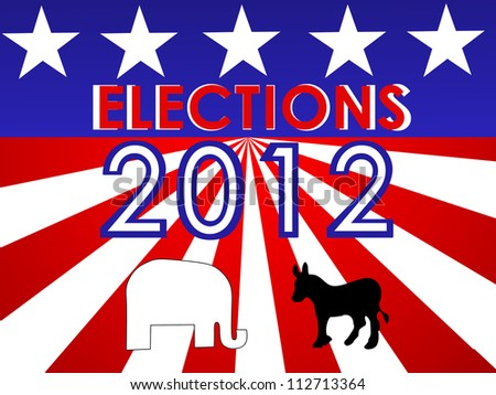 USA presidential elections - stock photo