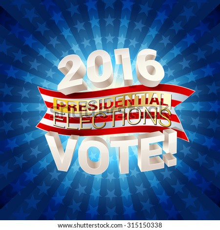 USA presidential elections background. raster version - stock photo