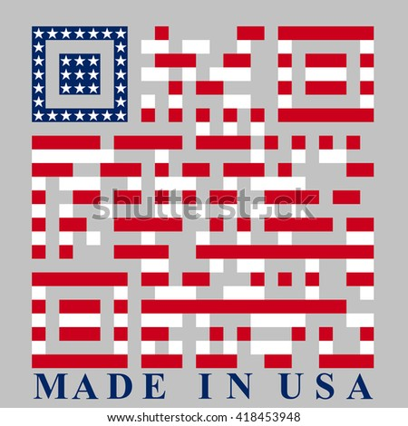 USA QR code - stock photo