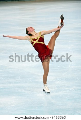USA's Kimmie Meissner performs in the ladies free skating event of the Eric Bompard trophy. This is her free program as of season 2007 and 2008.