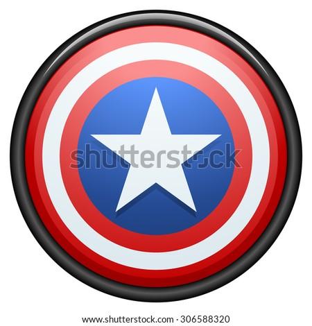USA star button - stock photo