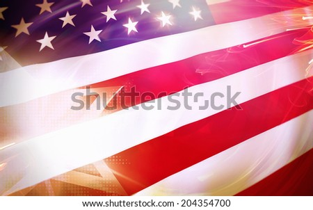 USA stars and stripes flag patriotic background.  - stock photo