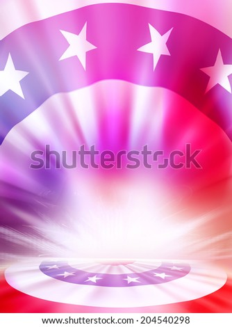 USA stars and stripes flag patriotic background.  - stock photo