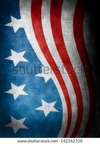 USA style background on old grunge canvas - stock photo