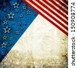USA style background painted on grunge wall - stock
