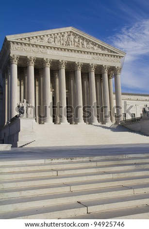 USA Supreme Court building in Washington, DC, United States - stock photo