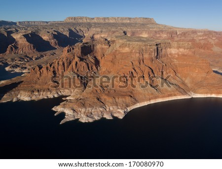 USA, Utah, Arizona, Lake Powell, Winter, year 2012.